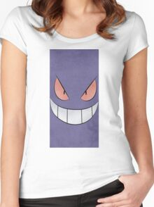 Gengar Face Women's Fitted Scoop T-Shirt