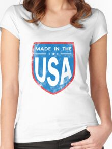 Made In The USA Patriotic Women's Fitted Scoop T-Shirt