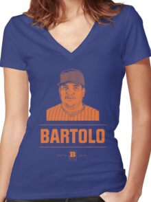 Bartolo Women's Fitted V-Neck T-Shirt