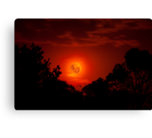 Fiery Blood Moon - Melbourne, Mt Dandenong, Victoria Australia Canvas Print