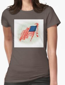 4th of July Fashion Womens Fitted T-Shirt