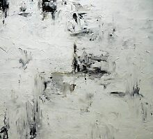 Abstract Painting Black and White Textured Contemporary Wall Art SNAPSHOT (variation) Holly Anderson Art by hollyanderson