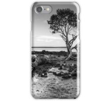 Tenby Point - Mangrove Sunset Black and White iPhone Case/Skin