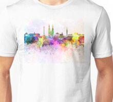 Jakarta skyline in watercolor background Unisex T-Shirt