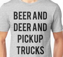 Beer Deer Pickup Trucks Unisex T-Shirt