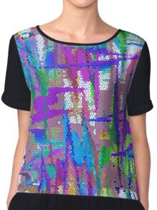 Weaving In And Out Chiffon Top