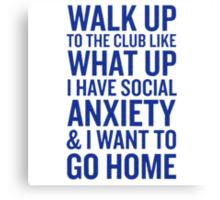 Social Anxiety Canvas Print