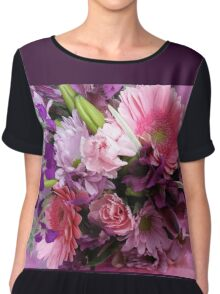 A Passion for Pink and Purple Women's Chiffon Top
