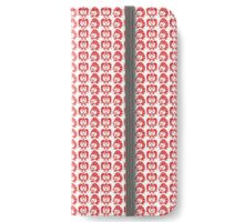 Strawberry Apple print tamagotchi iPhone Wallet/Case/Skin