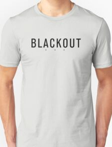 BLACKOUT black-on-black 3-dot logo Unisex T-Shirt