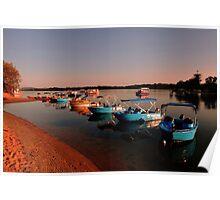 Maroochy River At Sunrise, Maroochydore. Queensland, Australia Poster