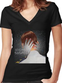Highly Suspect T-shirt  Women's Fitted V-Neck T-Shirt