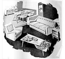50's Interior Poster