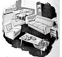 50's Interior Photographic Print