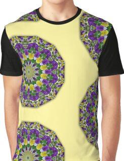 Pansy, Flower Mandala (Stiefmütterchen, Stiefmuetterchen) Graphic T-Shirt