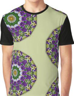 Flower Mandala, Pansy  002 (Stiefmütterchen, Stiefmuetterchen) Graphic T-Shirt