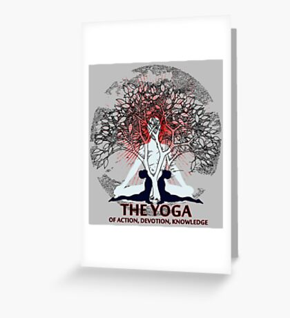 Yoga Life Greeting Card