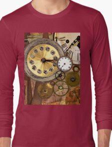 Clocks Rusty Old Steampunk Art Long Sleeve T-Shirt