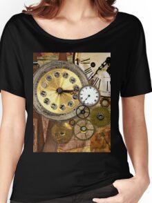 Clocks Rusty Old Steampunk Art Women's Relaxed Fit T-Shirt