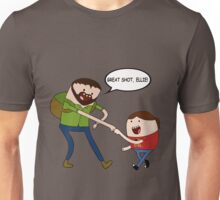 Joel and Ellie - Adventure Time (with text) Unisex T-Shirt