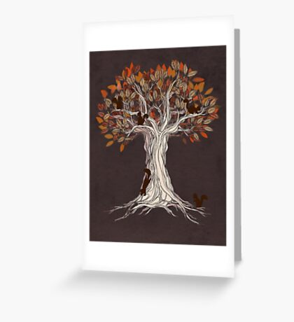 Little Visitors Greeting Card