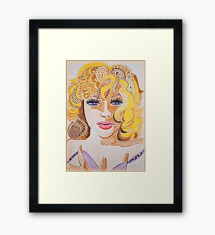 Lady Cornered  Framed Print