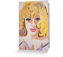 Lady Cornered  Greeting Card