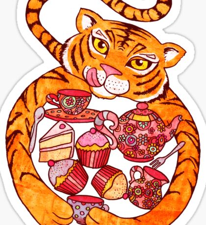 The Tiger Who Came To Tee Sticker