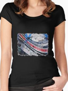 Elliott Smith Wall 2 Women's Fitted Scoop T-Shirt