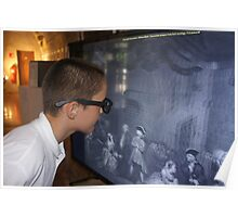 A passionate student of the 3D image during the exhibition William Blake Poster