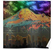 Lights: City . Mountain . Sky Poster