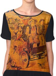 Vintage Ad Barkers Liniment Chiffon Top