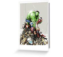 'little Avengers' Greeting Card
