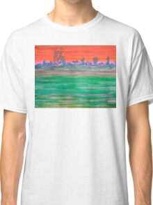 Landscape with Striped Field Classic T-Shirt