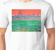 Landscape with Striped Field Unisex T-Shirt