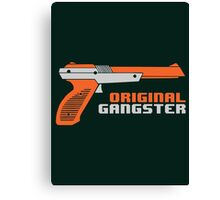 Original Gangster NES Light Gun Joke Gaming Retro Duck Canvas Print