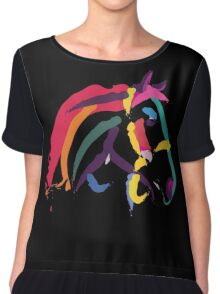 Cool t shirt colour me strong Chiffon Top