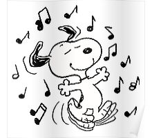 Dancing Snoopy Poster