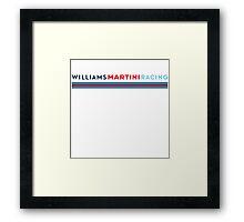 Williams Martini Racing logo Framed Print