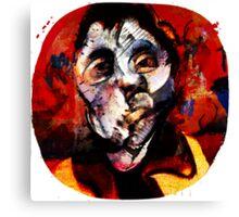 Boxing Bacon Canvas Print
