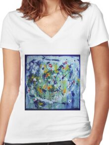 Art has no rules Women's Fitted V-Neck T-Shirt
