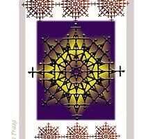 The Crown - Purple Fire Original Artwork by Ginette Van Praag