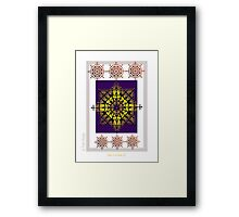 The Crown - Purple Fire Original Artwork Framed Print