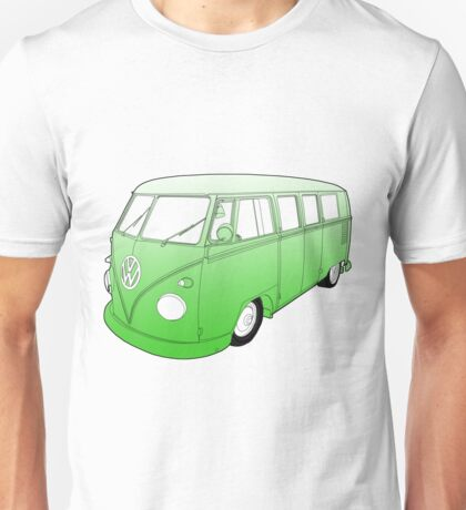 Green VW Camper Unisex T-Shirt