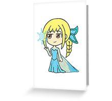 Dynasty Warriors x Frozen - Wang Yuanji x Elsa Greeting Card
