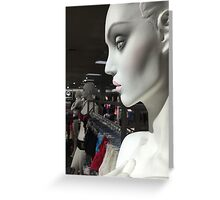 Statues of the gods / In the Hall of Aphrodite III Greeting Card