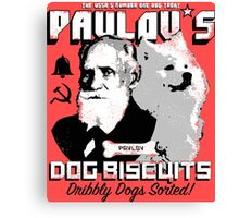 Pavlov's Dog Biscuits Canvas Print