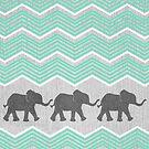 Three Elephants by Tangerine-Tane