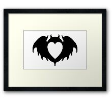 Clandestine Bat Heart - Black Framed Print