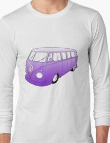 Purple VW Camper Long Sleeve T-Shirt
